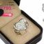 แหวนเพชร ประดับ เพชรCZ แหวนทรงหัวใจฝังเพชรกลมขาว เพิ่มความเก๋โดยการฉลุเล็กน้อยช่วงล่างตรงขอบหัวใจ ช่วงบ่าฉลุ ก้านแหวนเรียวเข้ากับดีไซน์หัวใจลงตัวสุดๆ thumbnail 2