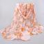 ผ้าพันคอชีฟอง สีส้มลายโซ่ thumbnail 1