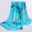 ผ้าพันคอชีฟอง สีฟ้า thumbnail 1