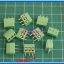 10x SCREW TERMINAL BLOCK 3 PINS Pitch 3.5 mm 300V/10A GREEN COLOR thumbnail 2