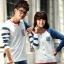 เสื้อคู่ เสื้อคู่รัก ชุดพรีเวดดิ้ง ชุดคู่รัก เสื้อคู่รักเกาหลี เสื้อผ้าแฟชั่น ผู้ชาย + ผู้หญิง เสื้อแขนยาวสีขาว ตัดด้วยแขนเสื้อลายฟ้าขาว ผลิตจากผ้าฝ้าย เนื้อนิ่ม หนา ใส่ สบาย งานจริงสวยๆมากค่ะ thumbnail 19