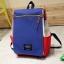 กระเป๋าเป้ Pocket Flap style สีน้ำเงินแดง thumbnail 14