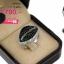 แหวนทองคำขาว ประดับเพชร CZ แหวนทรงมาร์คีย์ ฉลุร่องตรงกลางฝังเพชรกลมดำล้อมรอบเพชรกลมขาว สไตล์แบบโมเดิร์น จัดเต็มแบบหรูๆ thumbnail 2
