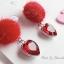 เลือกสีด้านในค่ะ ต่างหู Jewel Heart PomPom Korea ER9063 thumbnail 8