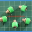 5x Female Green Color 4 mm Banana Jack Connector thumbnail 3
