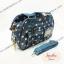 กระเป๋า Chalita wu + สะพาย สีฟ้า ลายจุด thumbnail 2
