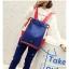 กระเป๋าเป้ Pocket Flap style สีน้ำเงินแดง thumbnail 13