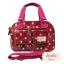 กระเป๋า Chalita wu + สะพาย สีเลือดหมู ลายจุดใหญ่ thumbnail 2