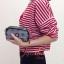 กระเป๋าคล้องมือ Lingky ผ้าทอ สีเทา thumbnail 3