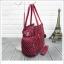 กระเป๋าถือ + สะพายไหล่ สีเลือดหมู thumbnail 2
