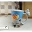 แก้วมักเซรามิกปากบาน รูปน้องแมวสีขาว thumbnail 2