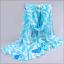 ผ้าพันคอชีฟอง ลายกุหลาบสีฟ้าขาว thumbnail 2