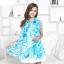 ผ้าพันคอชีฟอง ลายกุหลาบสีฟ้าขาว thumbnail 1