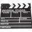 (Q001) Wood Movie Film Slate ( black ) thumbnail 1