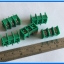 5x Terminal Block Connector 3 Pins Pitch 7.62 mm Barrier Type (Green Color) thumbnail 2