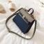 กระเป๋าถือ + สะพายข้าง HERMES mini style น้ำเงิน-ครีม thumbnail 6