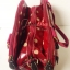 กระเป๋า Chalita wu + สะพาย สีเลือดหมู ลายจุดใหญ่ thumbnail 5
