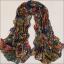 ผ้าพันคอผ้าชีฟอง สีน้ำเงิน ( รหัส P295 ) thumbnail 2