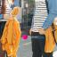 เสื้อคู่ เสื้อคู่รัก ชุดคู่รัก เสื้อคู่รักแขนยาวเกาหลี ผู้หญิง + ผู้ชาย เสื้อยืดกึ่งเสื้อเชิ้ตแขนยาว สีขาวลายเส้นขวางสีดำ แขนเสื้อผ้ายีนส์นิ่มดีไซน์แบบแขนเสื้อเชิ้ต thumbnail 6