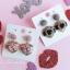 เลือกสีด้านในค่ะ ต่างหู Lux Velvet Heart Korea ER4512 thumbnail 8