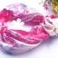 ผ้าพันคอผ้าซาติน ลายดอกไม้สีกุหลาบ thumbnail 1