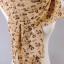 ผ้าพันคอผ้าชีฟองสีเบส ตัวอักษรABCสีน้ำตาล thumbnail 1