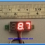 "1x Mini Digital DC Voltmeter module 0-100 Vdc RED LED 7's Segment 3 Wires 0.28"" thumbnail 3"