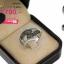 แหวนเงิน ประดับเพชร CZ แหวนทรงเส้นเรียงแถวไขว้กัน ฝังเพชรกลมดำสลับขาว ดีไซน์แปลกแหวกแนว ช่วยดึงดูดสายตาและความสนใจ โดดเด่นไม่ซ้ำใครอีกด้วย thumbnail 2