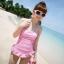 พร้อมส่ง / ชุดว่ายน้ำ นำเข้าสไตล์เกาหลี มีสีชมพู Size : M thumbnail 1