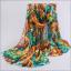 ผ้าพันคอชีฟอง หลากสีโทนเขียว thumbnail 1