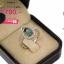 แหวนเงิน ประดับเพชร CZ แหวนพลอยทรงรูปไข่สีรุ้ง ล้อมรอบฝังเพชรกลมขาว ช่วงบ่าฝังเพชรเรียงแถว ดีไซน์หรูดูภูมิฐานใส่ได้ตลอดเวลา thumbnail 2