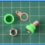 5x Female Green Color 4 mm Banana Jack Connector thumbnail 2