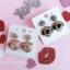 เลือกสีด้านในค่ะ ต่างหู Lux Velvet Heart Korea ER4512 thumbnail 4