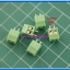 5x SCREW TERMINAL BLOCK 2 PINS Pitch 3.5 mm 300V/10A GREEN COLOR thumbnail 2