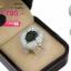 แหวนทองคำขาว ประดับเพชร CZ แหวนทรงดอกไม้ฝังเพชร2สีสลับขาว-ดำ เต็มหน้าแหวน ใส่แล้วเต็มนิ้ว สวยงามสะดุดตา ล้ำดูดีทุกมิติ thumbnail 2